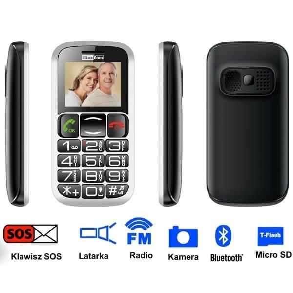 Telefon komórkowy dla seniora MaxCom...