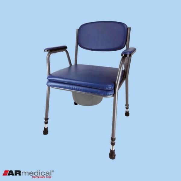 Krzesło toaletowe tapicerowane z...