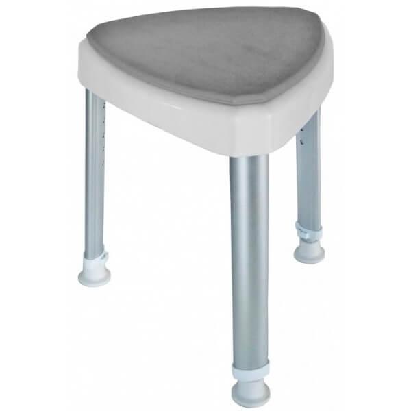 Tójkątny stołek prysznicowy z miękkim...