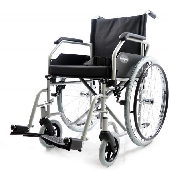 Tani wózek inwalidzki stalowy na ramie składanej