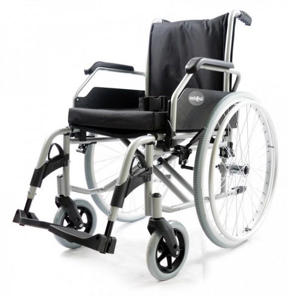 Wózek inwalidzki aluminiowy na ramie...