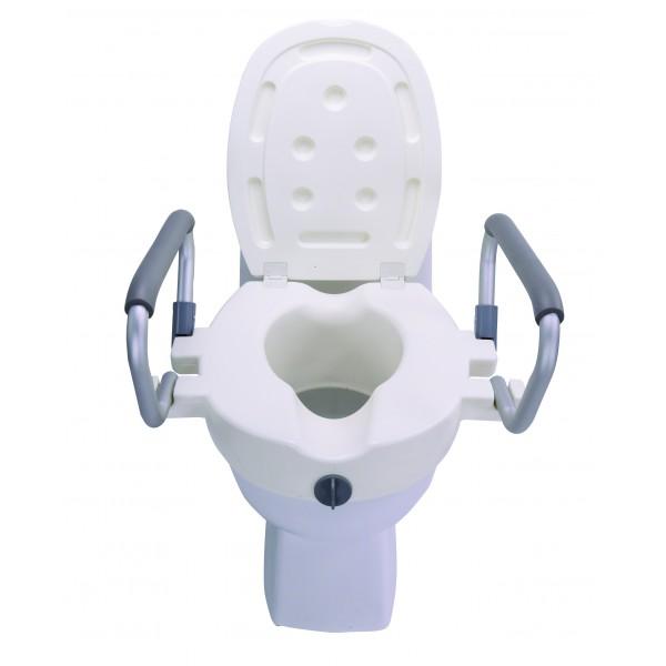 Nasadka toaletowa z deską i odchylanymi podłokietnikami