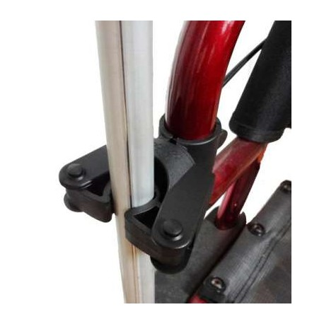 Uchyt na kule montowany do wózka inwalidzkiego lub balkonika
